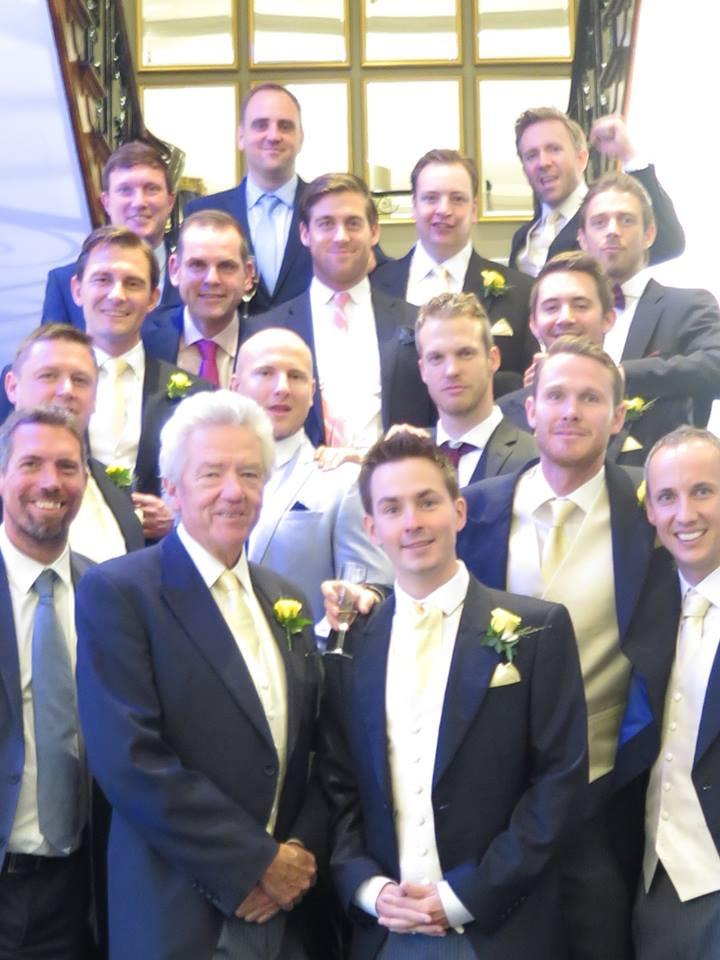 Merton lads at wedding