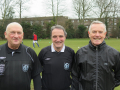 Phil Cook (OWCs) Richard Melvin (Kew Ass) and  Pat Morrisey (Old Sals).