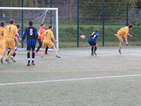 Bosh turned this Woody free kick int the net for or first goal!
