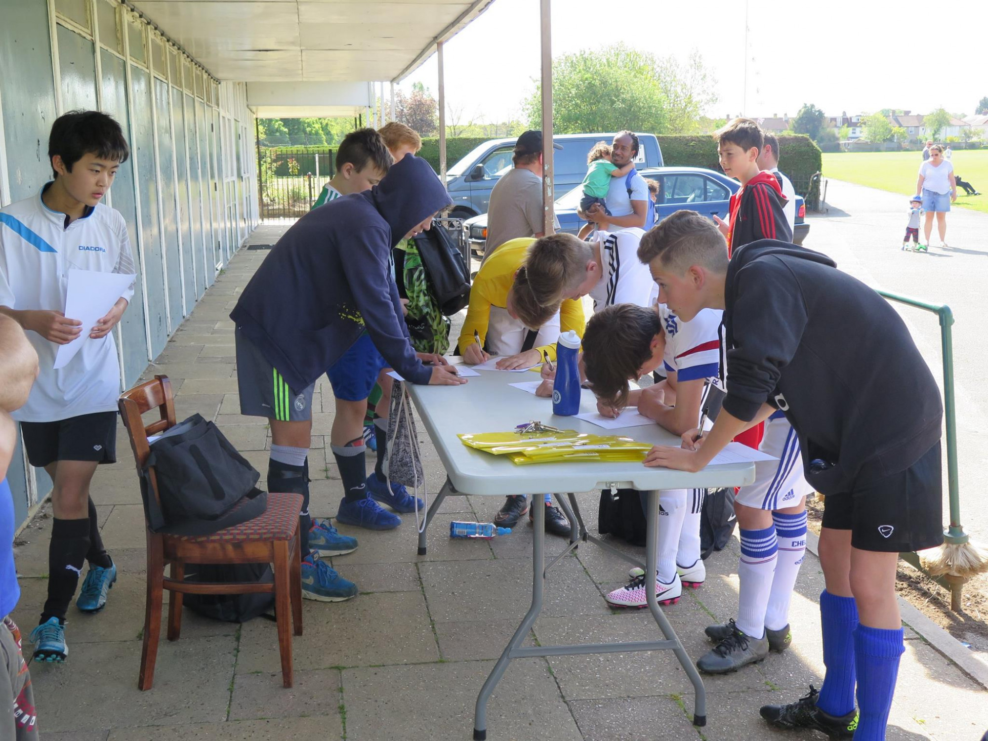 Registration at training -all very well organised