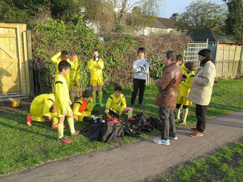 Half time team talk galvanised the boys into a great second half