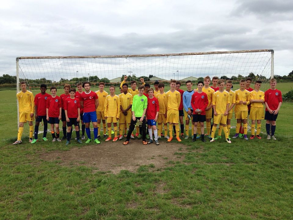 U15s with the Met Police Oppo. A really good game of football.