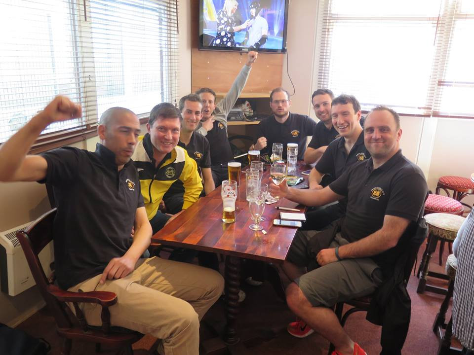 3s in the bar after agood game and a good season. Well done boys.