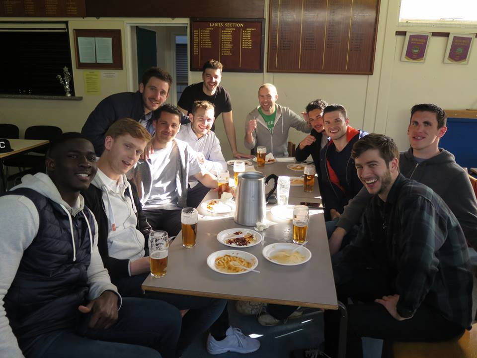 Old Parks. Runners up in the division enjoying some apres footy Well done !!!