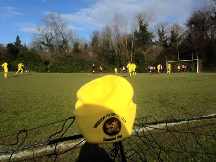 Spectators view of the 3s game at Old Finchleians 5th March 2016