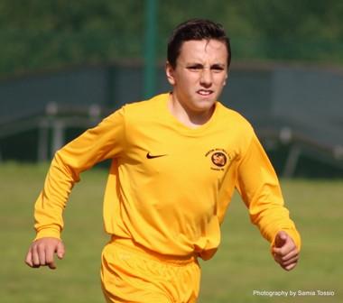 Hugo's first goal for under 13s