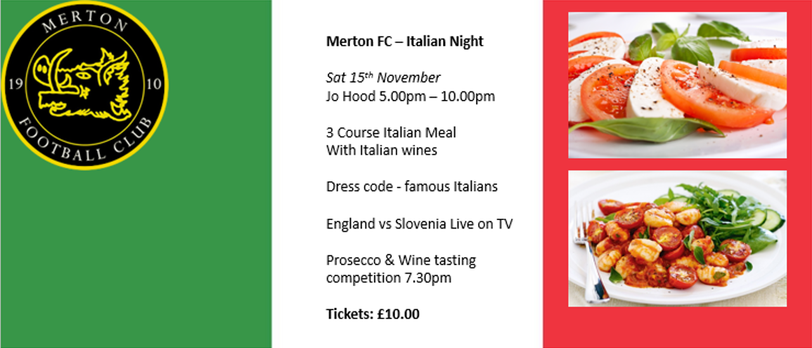 Italian Night 15th November 2014