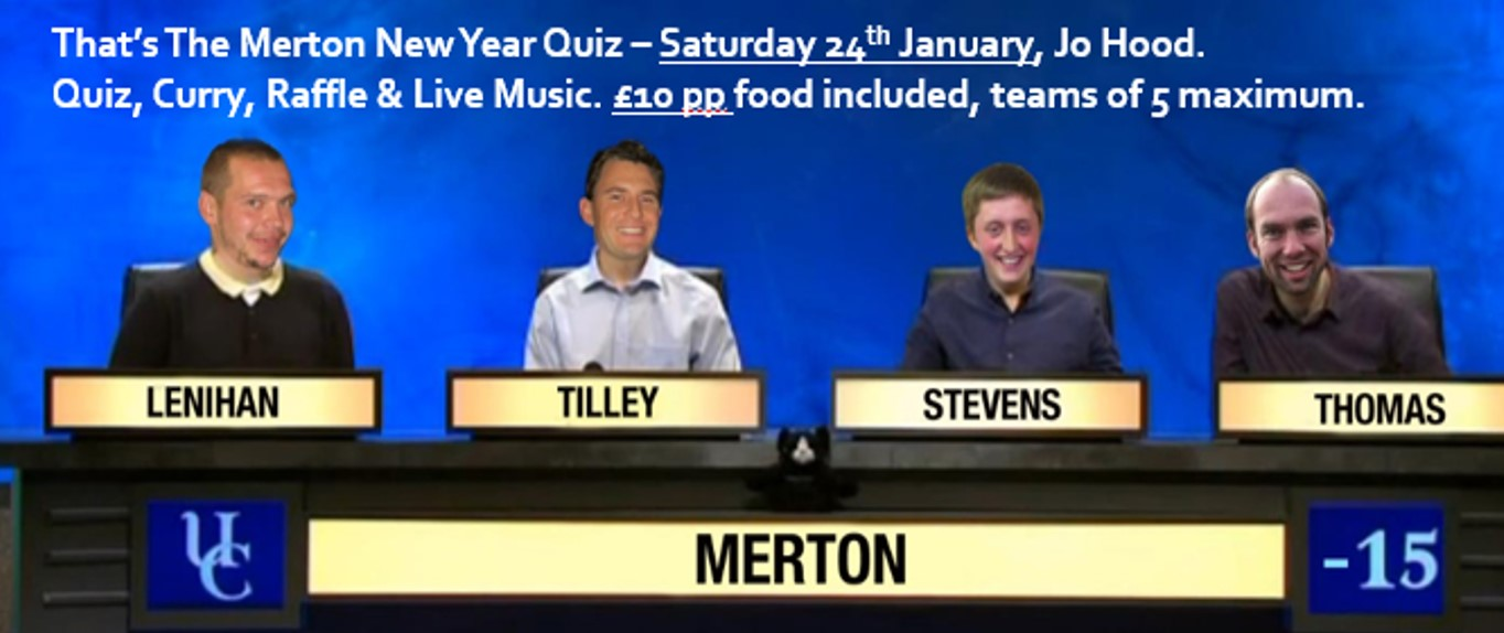 That's The Merton New Year Quiz
