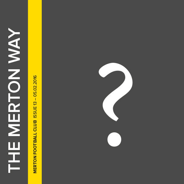Editor needed for The Merton Way