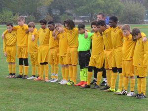 Some brilliant goals and a minutes silence showing respect and mourning Nick (pic of U13s)