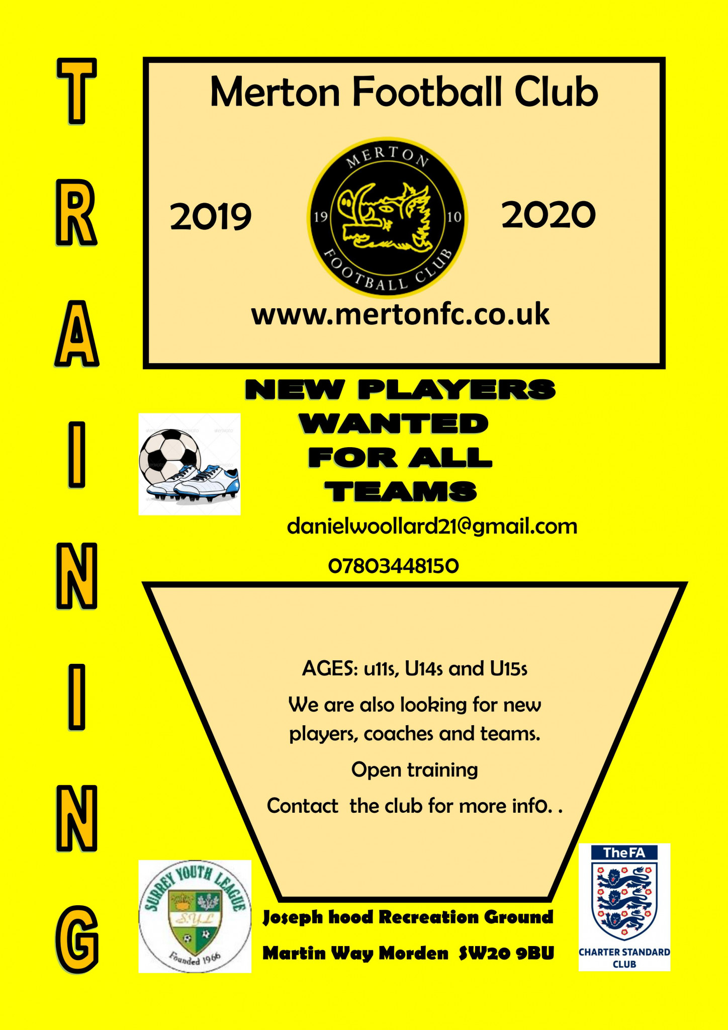 Youth Team Trials for 2019 – 2020 Season